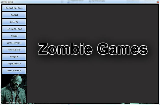Click to view Zombie Games 1.0 screenshot